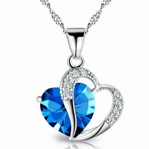 Jewelry - Brand New Blue Crystal Heart Necklace